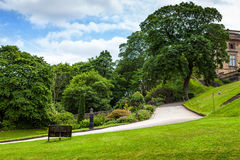 Nottingham castle park Royalty Free Stock Photography