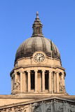 Nottingham Council House. Domed rooftop of Council House building or city hall, Nottingham, United Kingdom Royalty Free Stock Photo