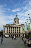 Nottingham Council House amd old market square royalty free stock photos