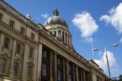 Nottingham council house. The beautiful stone council house in Nottingham stands proudly on market Square Royalty Free Stock Photo