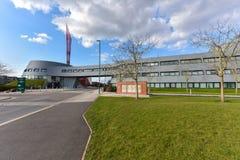 Nottingham in England - Europe. Nottingham, England - February 24, 2018: University of Nottingham the Jubilee Campus stock photos