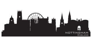 Nottingham, England skyline. Detailed silhouette. Vector illustration royalty free illustration