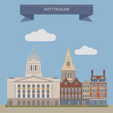 Nottingham, Inglaterra stock de ilustración
