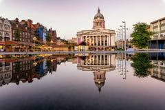 Nottingham Market square England UK stock photography
