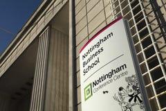 Nottingham, Nottinghamshire, UK: October 2018: Nottingham Business School and Conference Centre stock photography