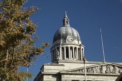 Nottingham, Nottinghamshire, UK: October 2018: Dome of City Hall royalty free stock images
