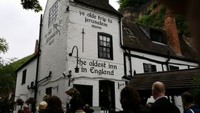 Nottingham. The oldest pub in Britain good ale Royalty Free Stock Photos