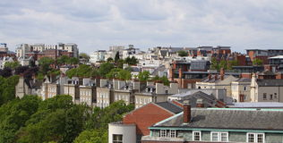 Nottingham sky line england uk royalty free stock photography