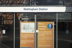 Nottingham stacja kolejowa, Nottingham, Nottinghamshire, Październik obraz royalty free