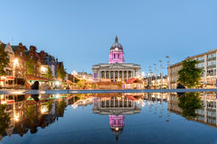 Nottingham stad Hall England royaltyfria foton