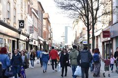 Nottingham-Stadtzentrum lizenzfreie stockfotografie