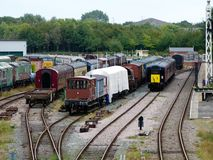 Nottingham transport heritage centre. Heritage centre at rushcliffe country park Royalty Free Stock Photo