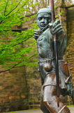 Robin Hood. Statue in front of Nottingham Castle (United Kingdom Stock Photo