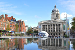 Nottingham, UK. 14 October, 2012: Nottingham Council House is the city hall of Nottingham. The iconic 200 feet (61 m) high dome rises above the city and Stock Images