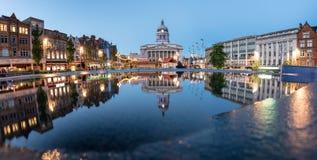 Nottingham urząd miasta Anglia Obrazy Royalty Free