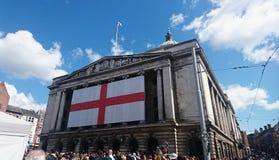 Nottingham viert de Queensverjaardag stock foto's