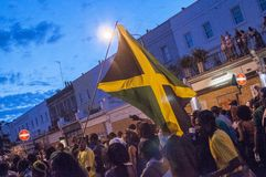 Nottinghill carnival. A night shot photo of nottinghill carnival Stock Photo