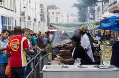 Nottings Hill karneval i västra London, UK Royaltyfri Fotografi