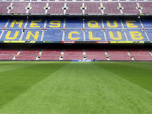 Nou Camp. One of the biggest stadiums in Europe royalty free stock images