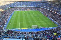Nou Camp stadion. Nou camp stadium in Barcelona -  spanish league match between FC Barcelona and Malaga CF. It was played within 20th la liga round in Barcelona Royalty Free Stock Image