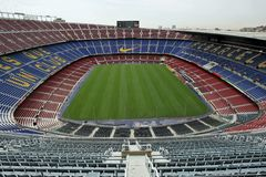 Nou Camp Stadium. Futbol Club Barcelona Stadium, where take place the matches of First division soccer team Stock Image