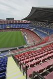 Nou Camp Stadium. Futbol Club Barcelona Stadium, where take place the matches of First division soccer team Royalty Free Stock Photo