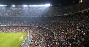 Nou Camp Stadium, Barcelona, Spain royalty free stock photos