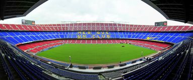 Nou Camp stadium panorama - Barcelona, Spain Royalty Free Stock Photo