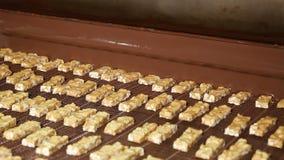 Nougat με τα καρύδια και σοκολάτα στο εργοστάσιο φιλμ μικρού μήκους