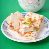 Nougat. With nuts and dried fruit Stock Photography