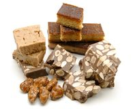 Nougat of almond Stock Images