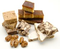Nougat of almond Stock Photos