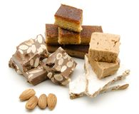 Nougat of almond Stock Photography