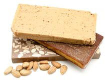 Nougat of almond Royalty Free Stock Image