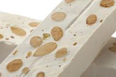 Nougat avec des amandes et des pistaches Photo stock