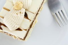 Nougat cake from above Royalty Free Stock Image