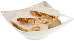 Nougat candy. Type of candy traditionally eaten at Christmas Royalty Free Stock Image