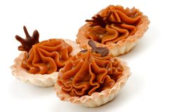 Nougat Caramel Tarts Stock Images