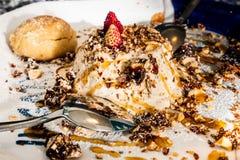 Nougat croccante freddo cremoso dolce delizioso immagini stock libere da diritti