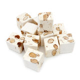 Nougat cubes Royalty Free Stock Images