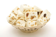 Nougat cubes in vase Royalty Free Stock Images