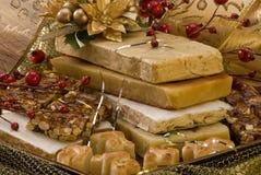 Nougat de Noël Images libres de droits