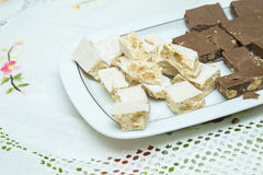 Nougat of different Royalty Free Stock Image