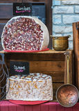 Nougat on a French market in Vallon Pont d`Arc, France Stock Photography