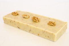 Nougat of nuts. Nougat of almond, typical Christmas sweet of Spain Royalty Free Stock Photos