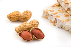 Nougat and peanuts. Stock Image