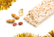 Nougat and peanuts. Royalty Free Stock Photography