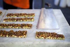 Nougat pistachio Stock Image