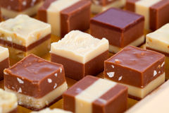 Nougat praline. Delicious mix of nougat and almond creme Stock Photography