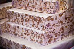 Nougat selling in a french market Stock Image